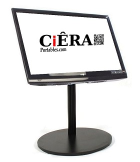 CiERA EZ StandShort 200 Portable TV Stand for 23-40 Inch TV's - Black