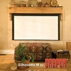 Draper Silhouette Series M with AutoReturn 73 Inch Diagonal 36x64 HDTV Format Argent White XH1500E Surface