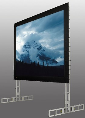 StageScreen (silver), 752 Inch Diagonal, MultiFormat, Matt White XT1000V Surface