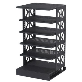 Raxxess STROTR-42 Steel ROTR-42 Inch With 5 Movable Shelves and 1 Fixed