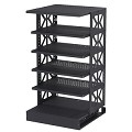 Raxxess STROTR-36 Steel ROTR-36 Inch With 4 Movable Shelves and 1 Fixed