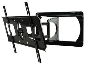 Peerless SUA751PU Ultra-Slim Articulating Wall Arm for 37 in. to 55 in. Ultra-Thin Screens Weighing Up to 100lb