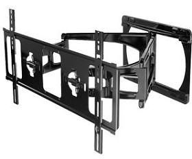 Peerless SUA765PU Ultra-Slim Articulating TV Wall Mount Arm for 42 - 75 Inch Ultra-Thin TV's - Black