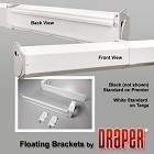 Draper 227025 Floating Mounting Brackets - White
