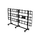 Peerless DS-C555-4X3 SmartMount Portable Video Wall Cart 4x3 Configuration for 46