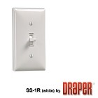 Draper 121102 SS-1R CONTROL SWITCH - 1 STATION White