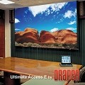 Draper 119342Q Ultimate Access Series E 110 Inch Diagonal HDTV Format ClearSound Grey Weave XH600E Surface with Quiet Motor