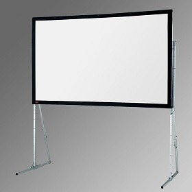 Draper 241309 Ultimate Folding Screen146 Inch Diagonal; (83x144), 16:10 Format Cineflex Rear Projection with HD Legs