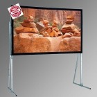 "Draper 241020 Ultimate Folding Screen 84"" x 126"" Slide Format Flexible Matt White"
