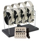 Califone 1218AVPS-03 Stereo w/ 8 2924AVPS Headphones w/ 1210AVPS Jackbox & rack