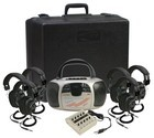Califone 1776PLC-6 Spirit Multimedia Player/Recorder w/ 6 headphones and case