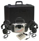 Califone 1776PLC Spirit Multimedia Player/Recorder w/ 4 headphones and case