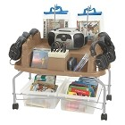Califone 1776PLC6-C Spirit Multimedia Player/Recorder w/ 6 headphones and case rolling cart