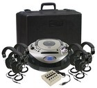 Califone 1886PLC-6 Spirit SD Multimedia Player/Recorder w/ 6 headphones