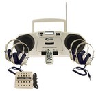 Califone 2385PLC Music Maker Plus Single Cassette w/ 4 headphones