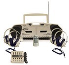 Califone 2395PLC 4 Person Music Maker PLC Dual Cassette
