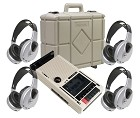 Califone 3432IR-PLC Infrared Cassette Recorder/Player with 4 wireless headphones