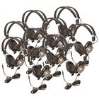Califone 61044S-10L Binaural Headphones 10 pack w/o case 3.5mm stereo plug and non-replaceable cord
