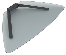 Peerless ACC318GB Tinted Glass Shelf for SmartMount Carts and Stands - Gloss Black