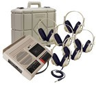 Califone CAS5272PLC Deluxe Cassette Recorder/Player with 6 headphones and case