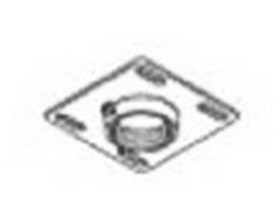 Peerless CMJ300 Peerless 4 in.x4 in. Unistrut and Structural Ceiling Plate - Black Peerless 4 in.x4 in. Unistrut and Structural Ceiling Plate - Black