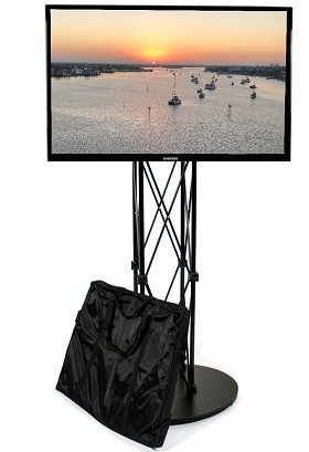 CiERA EZ Fold Tradeshow Portable TV Stand for 28-70 Inch TV's - Black
