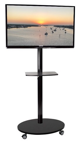 CiERA EZ StandTall Mobile ONE Tradeshow Portable TV Stand 60 Inch Tall for 28-60 Inch TV's - Black