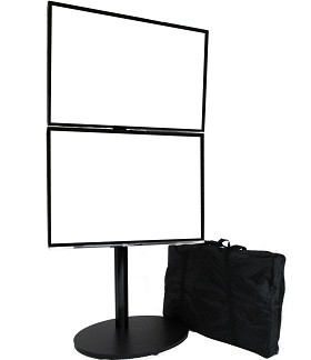 CiERA EZ StandTall ONE Duo Tradeshow Portable TV Stand - Black