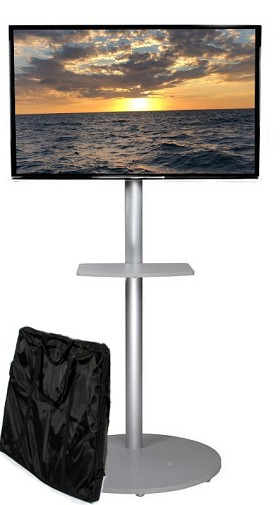 CiERA EZ StandTall ONE Tradeshow Portable TV Stand 70 Inch Tall for 28-70 Inch TV's - Silver