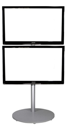 CiERA EZ StandTall ONE Duo Portable TV Stand - Silver