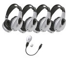 Califone HIR-KT4 Infrared Stereo/Mono Headphone 4 pack with transmitter