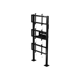 "Peerless DS-S560-1X3 SmartMount Modular Video Wall Pedestal Mount 1x3 Configuration for 46"" to 60"" TV's"