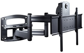 Peerless PLAV70-UNLP-GB Universal TV Wall Mount with Vertical Adjustment for 42 - 95 Inch TV's - Gloss Black