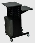 Luxor PS4000C Presentation Cart with Cabinet