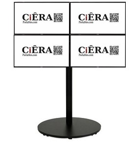CiERA EZ StandTall Quad Portable Video Wall - Black