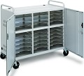 DaLite 7526 CT-LS30-E 30 Unit Laptop Storage Cart with (2) CT-E16 Electrical Strips