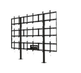 Peerless DS-S555-3X3 Modular Video Wall Pedestal Mount 3x3 For 46 to 55 TV's