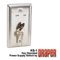 Draper 121017 Key Control Wall Switch