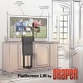 Draper 300501 FSL-F-50 Flat Screen Lift for TV's up to 50