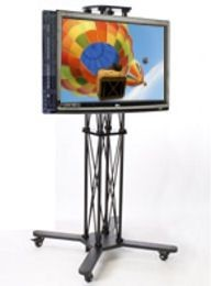CiERA EZ Fold Mobile Duo Tradeshow Portable TV Stand 85 Inch Tall for 28-70 Inch TV's - Black