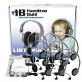 Hamilton LCB/12/MS2L Lab Pack, 12 MS2L Personal Headphones in a Laminated Cardboard Carry Case