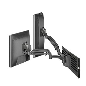 Chief K1S220B Kontour K1S Dynamic Slatwall Mount, 2 Monitors