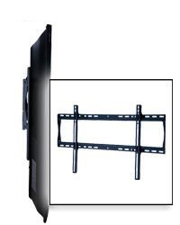 Peerless SF660 Security SmartMount Universal Flat Mount for 39 - 80 Inch TV's with Security Fasteners - Black