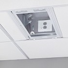 Chief CMS491P2 1' x 2' Above Suspended Ceiling Storage Box with 2-Gang Filter & Surge