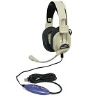 Hamilton Electronics HA-66USBSM Deluxe USB Headphone with Gooseneck Microphone