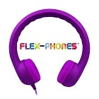 HamiltonBuhl Flex-Phones, Foam Headphones, Purple