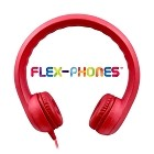 HamiltonBuhl Flex-Phones, Foam Headphones, Red